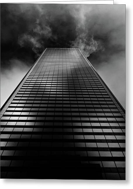 Greeting Card featuring the photograph No 100 King St W Toronto Canada 1 by Brian Carson
