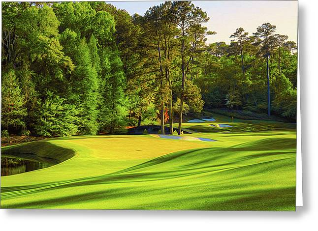 No. 11 White Dogwood 505 Yards Par 4 Greeting Card by Don Kuing