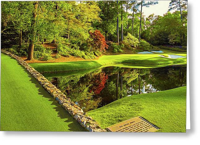 No. 12 Golden Bell 155 Yards Par 3 Greeting Card by Don Kuing