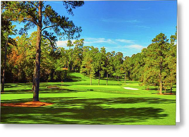 No. 15   Fire Thorn 530 Yards Par 5 Greeting Card by Don Kuing