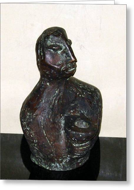 Male Sculptures Greeting Cards - No. 245 Greeting Card by Vijayan Kannampilly
