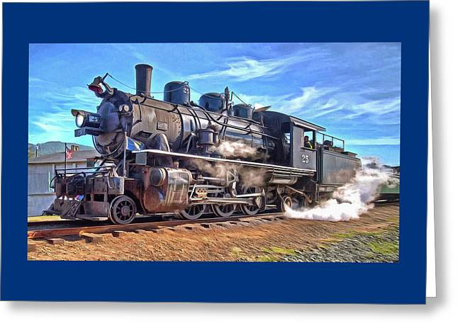 No. 25 Steam Locomotive Greeting Card