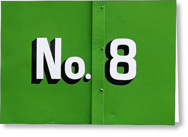 No. 8 Greeting Card