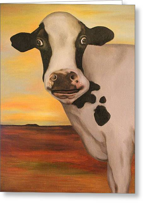 No Bull Detail Greeting Card by Leah Saulnier The Painting Maniac