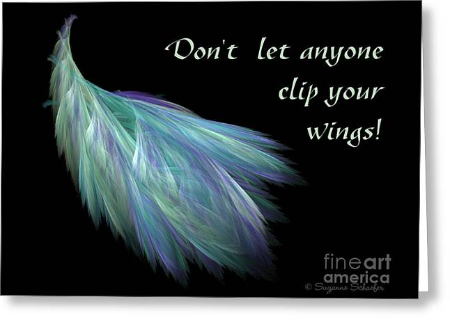 Wings Greeting Card by Suzanne Schaefer