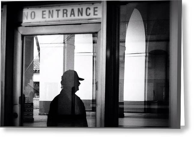 No Entrance Greeting Card