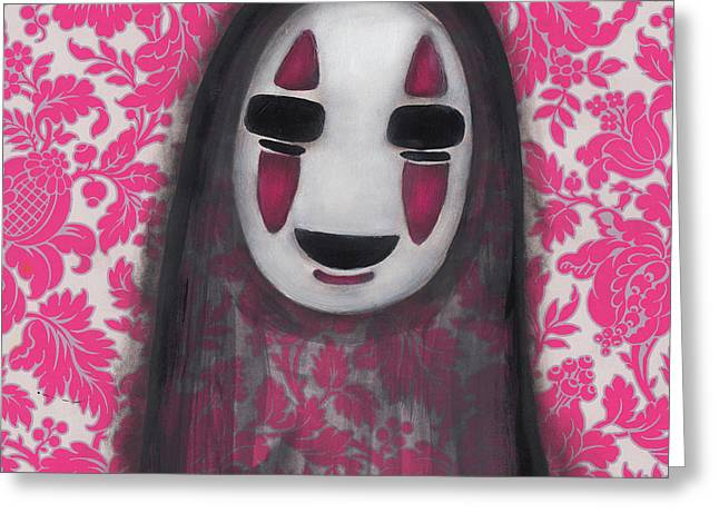 No Face  Greeting Card by Abril Andrade Griffith