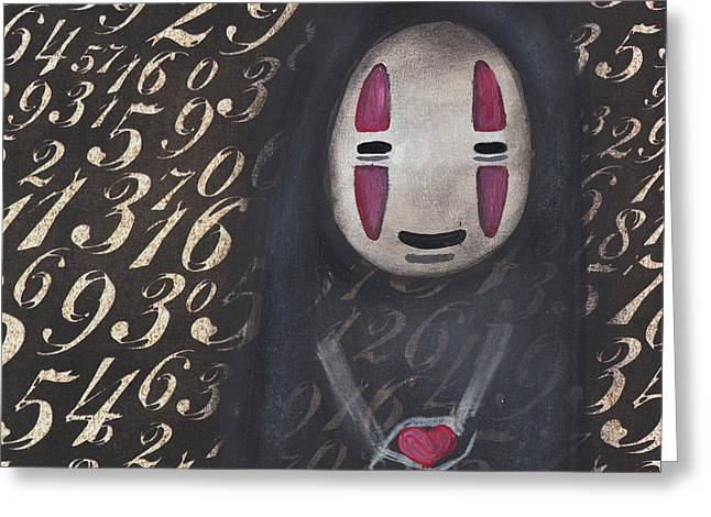 No Face With A Heart Greeting Card by Abril Andrade Griffith