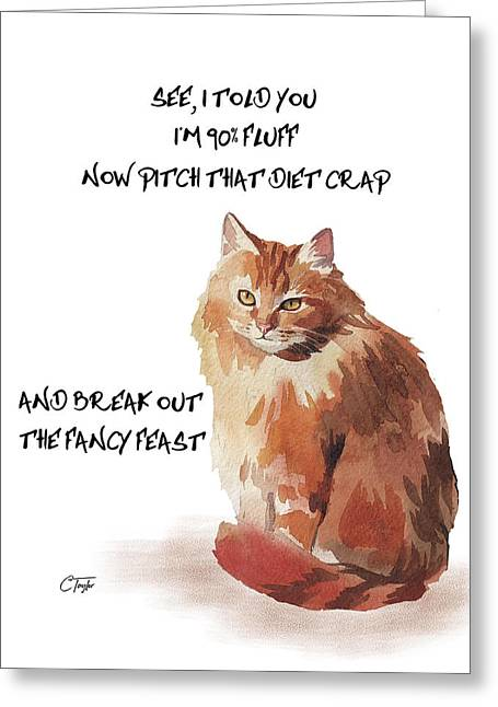 No Fat Cat Greeting Card