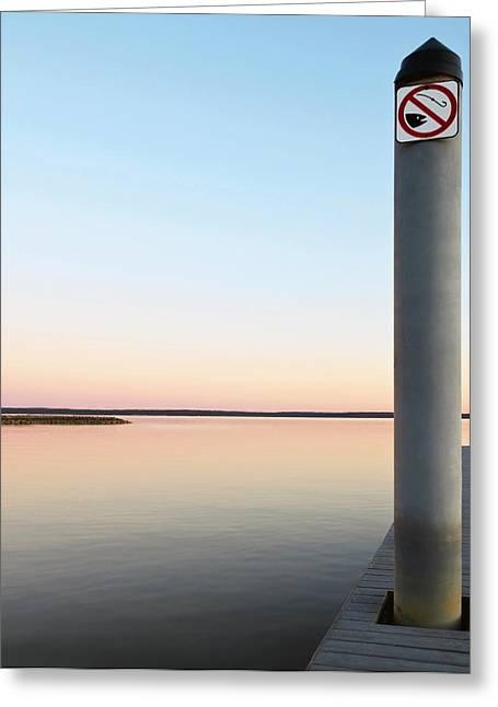 No Fishing Greeting Card by Ken Howard
