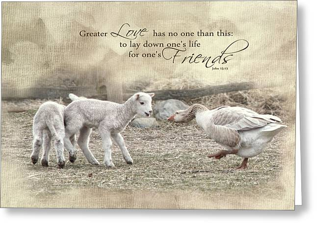 Greeting Card featuring the photograph No Greater Love by Robin-Lee Vieira