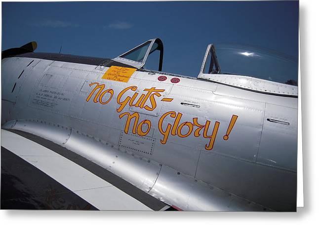 No Guts - No Glory P-47 Greeting Card