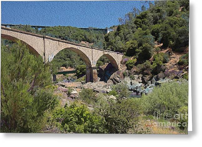No Hands Bridge Greeting Card by Anthony Forster