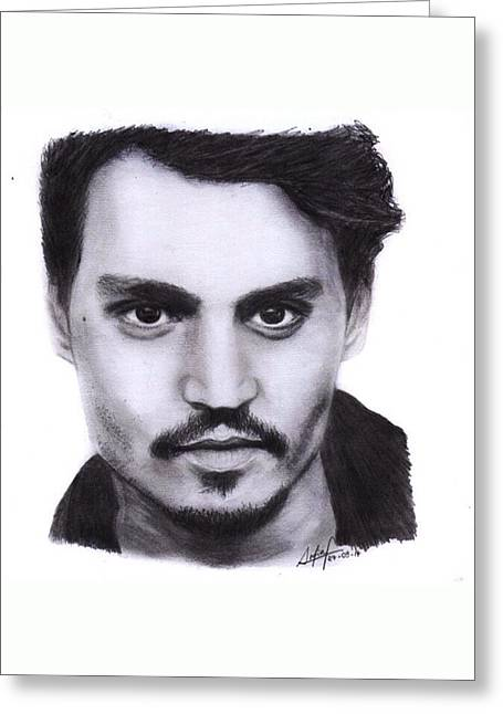 Johnny Depp Drawing By Sofia Furniel Greeting Card