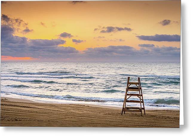 Greeting Card featuring the photograph No Lifeguard On Duty. by Gary Gillette