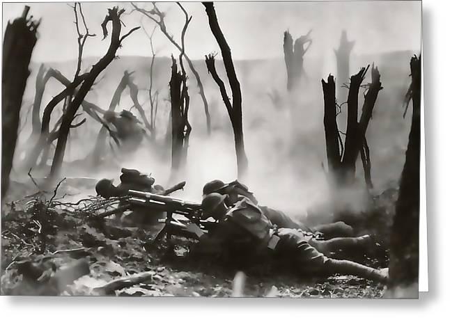 No Man's Land - Trench Warfare - World War One Greeting Card
