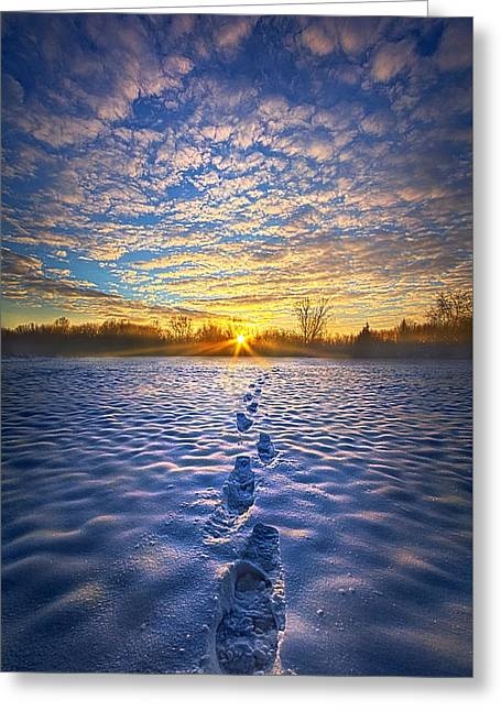 No Matter Where I Am You Will Always Be With Me Greeting Card by Phil Koch
