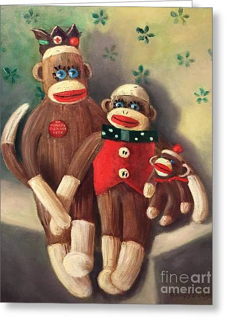 No Monkey Business Here 2 Greeting Card