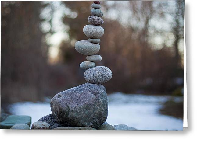 Zen Stack #3 Greeting Card