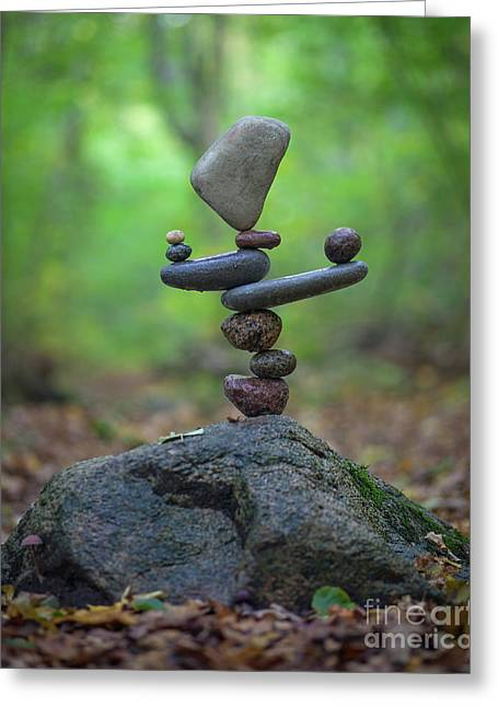 Zen Stack #5 Greeting Card