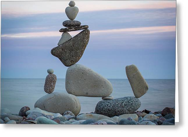 Zen Stack #7 Greeting Card