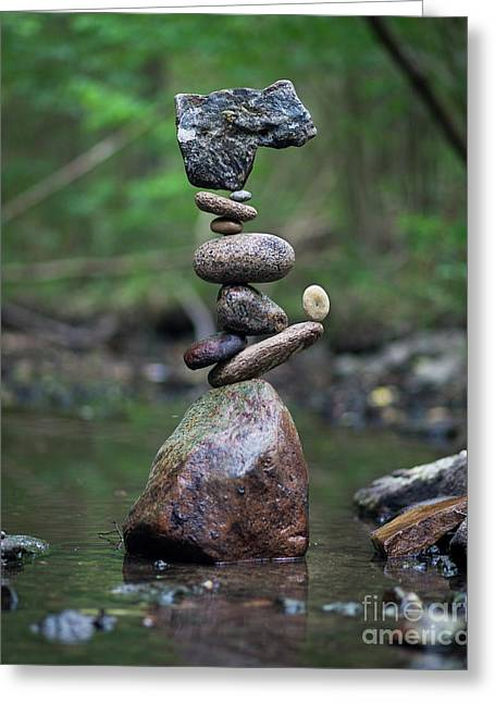 Zen Stack #8 Greeting Card