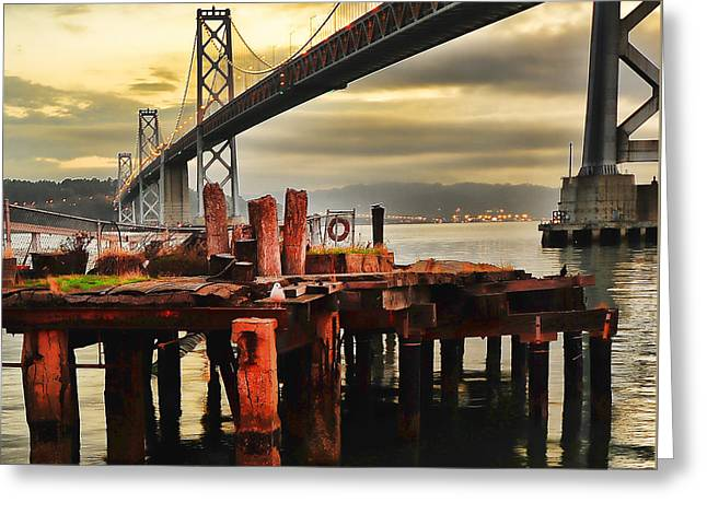Greeting Card featuring the photograph No Name Dock by Steve Siri