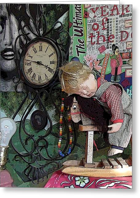 No Nap For Time Greeting Card by Grace Rose