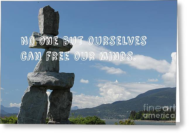 Greeting Card featuring the mixed media No One But Ourselves by Wilko Van de Kamp