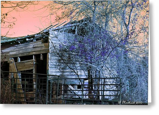 Greeting Card featuring the photograph No Ordinary Barn by Betty Northcutt