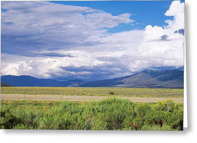 No Passing Sign At The Roadside, Taos Greeting Card by Panoramic Images
