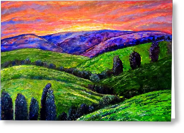 No Place Like The Hills Of Tennessee Greeting Card by Kimberlee Baxter