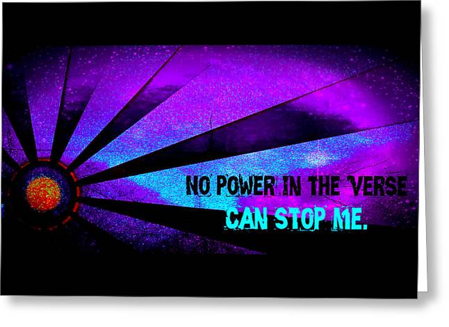 No Power In The Verse Greeting Card by Catherine McCoy