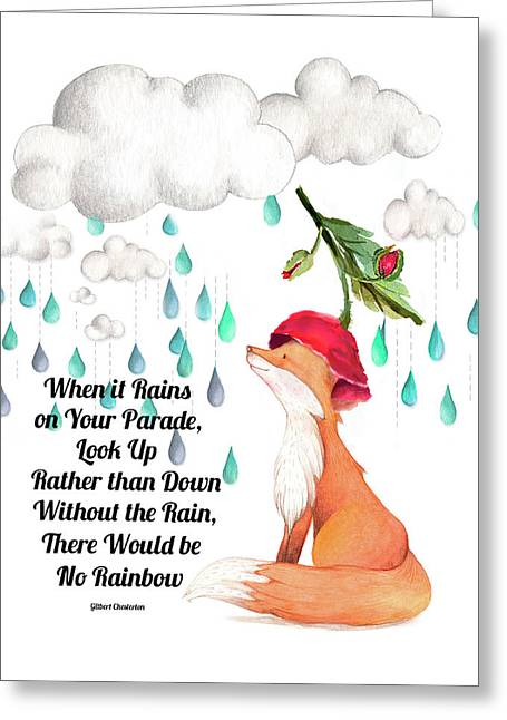 Greeting Card featuring the digital art No Rain On My Parade by Colleen Taylor