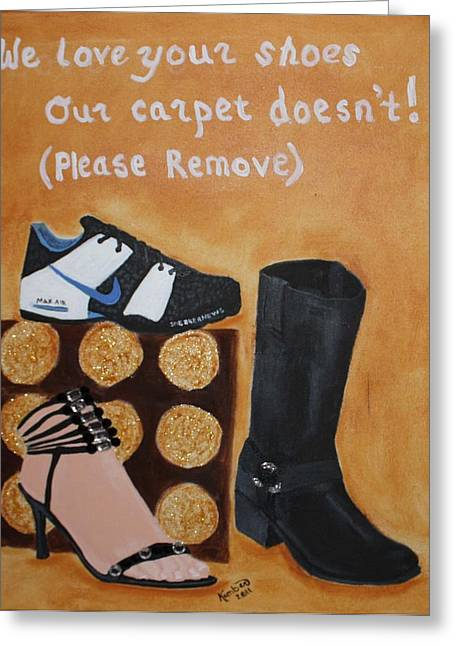 No Shoes Greeting Card