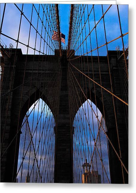 No Sleep Til Brooklyn Greeting Card by John McGarity