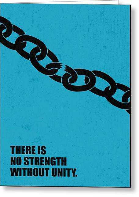 No Strength Without Unity Business Quotes Poster Greeting Card