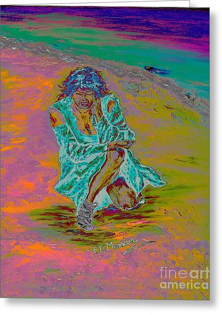 Greeting Card featuring the painting No Surrender by Loredana Messina