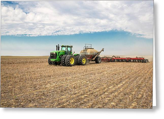 No-till Seeding Greeting Card