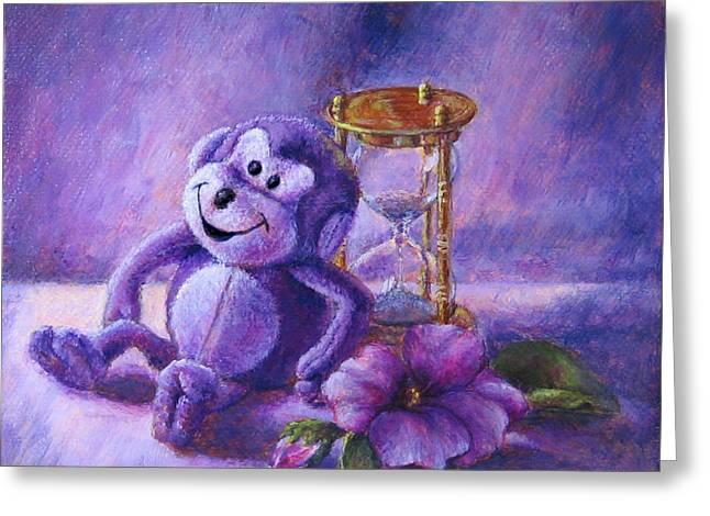 No Time To Monkey Around Greeting Card