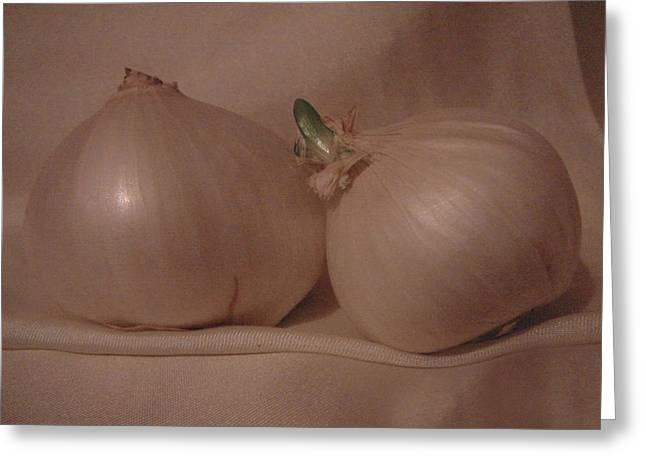 White Onion Greeting Card