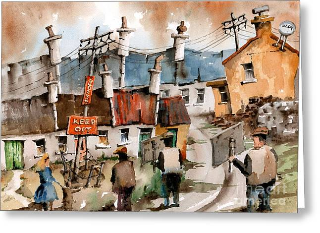 F 729 No To Pylons In Ireland.. Greeting Card