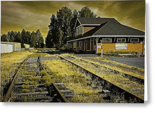 No Train Today Greeting Card by Richard Farrington
