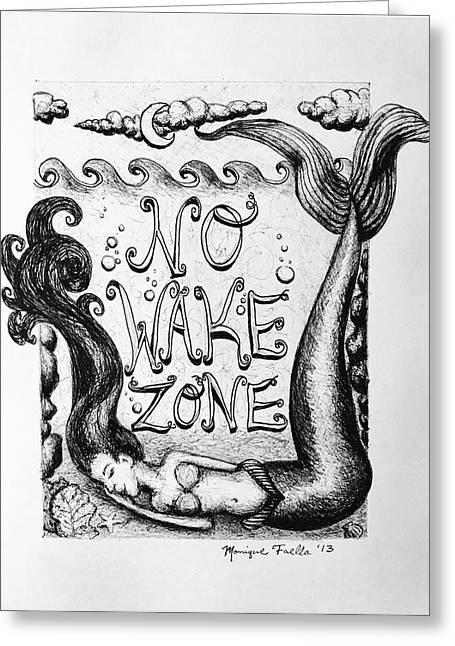 No Wake Zone, Mermaid Greeting Card