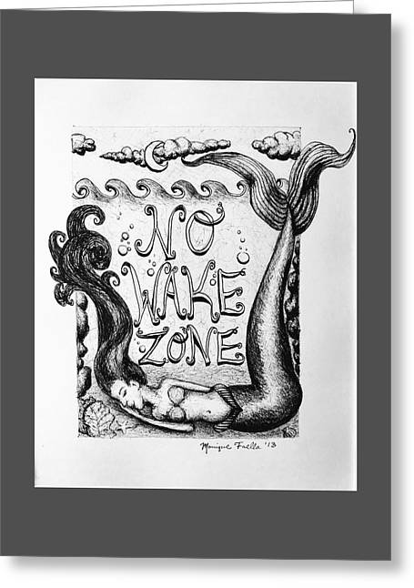 No Wake Zone, Mermaid Greeting Card