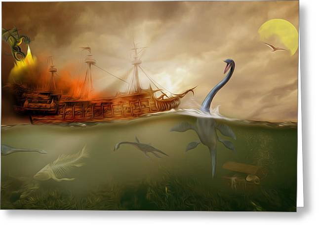 No Way Out Greeting Card by Surreal Photomanipulation