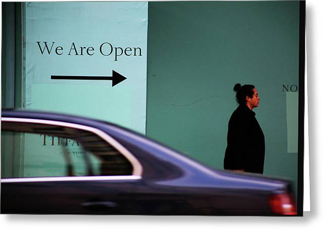 No We Are Closed  Greeting Card by Jerry Cordeiro