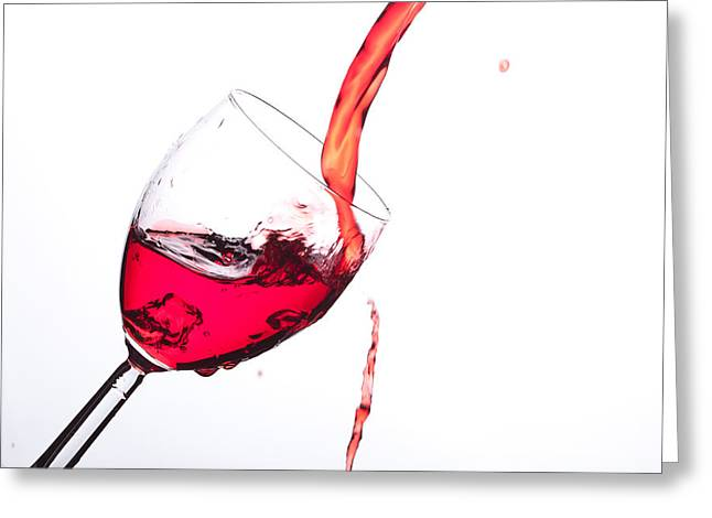 No Wine Was Harmed During The Making Of This Image Greeting Card
