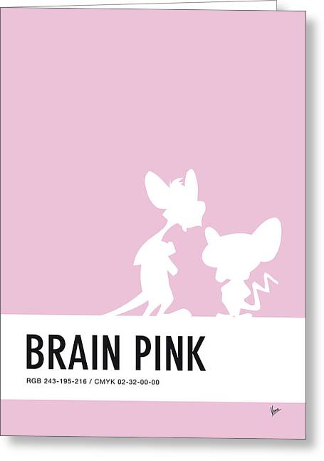 No01 My Minimal Color Code Poster Pinky And The Brain Greeting Card by Chungkong Art