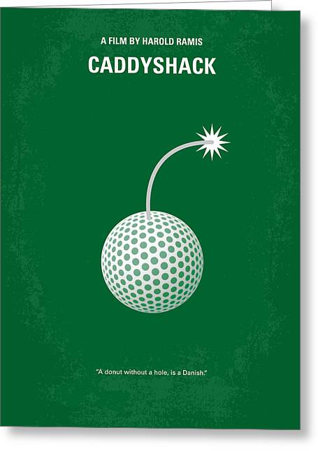 No013 My Caddy Shack Minimal Movie Poster Greeting Card by Chungkong Art